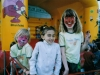 Yasmin, Tabea und Lisa vor der Hüpfburg